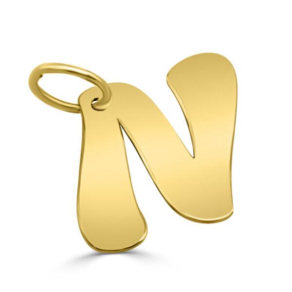 Colgante inicial oro - N