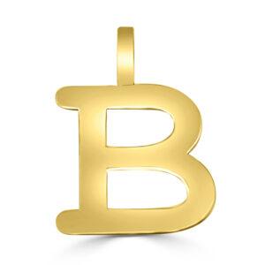 Colgante inicial oro Classic - B