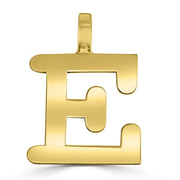 Colgante inicial oro Classic - E