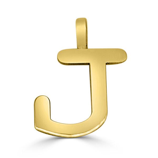 Colgante inicial oro Classic - J
