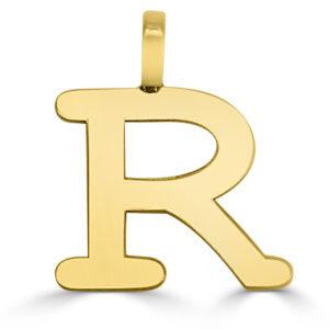 Colgante inicial oro Classic - R